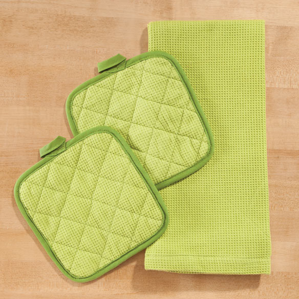 Solid 3 Piece Kitchen Towel Set - View 3