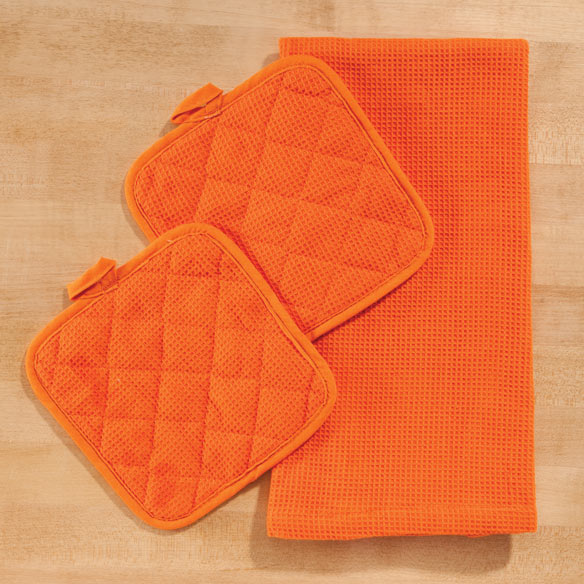 Solid 3 Piece Kitchen Towel Set - View 4