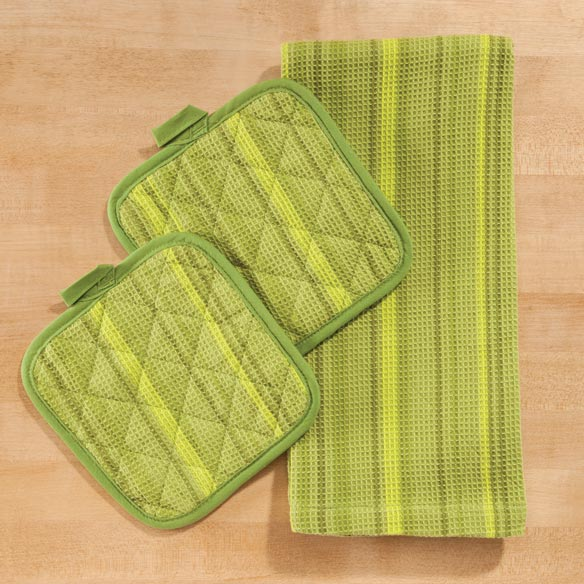 Striped 3 Piece Kitchen Towel Set - View 3