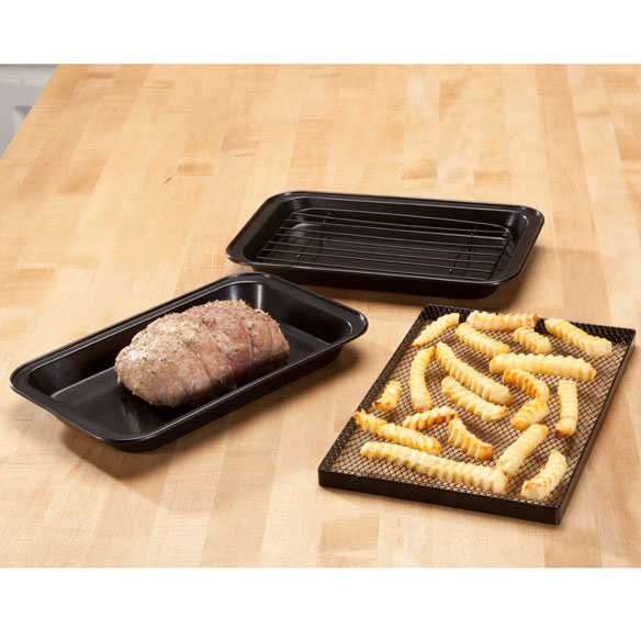 Toaster Oven Pans by Home-Style Kitchen ™ - Set of 3 - View 2
