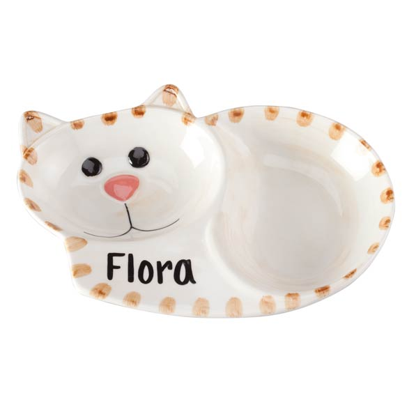 Personalized Ceramic Cat Dish - View 2