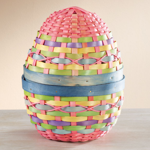 Pastel Wicker Easter Egg - View 2