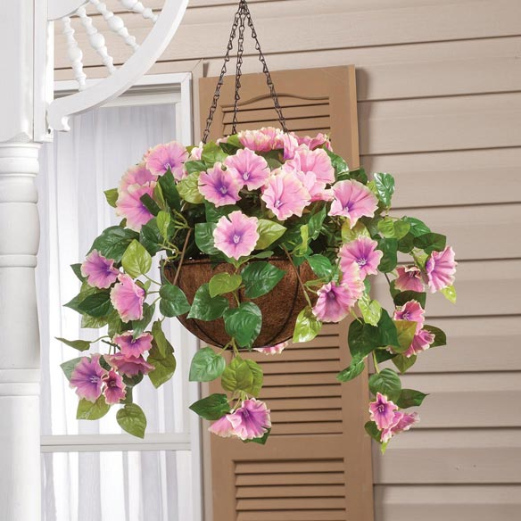 Fully Assembled Petunia Hanging Basket by OakRidge Outdoor™ - View 2