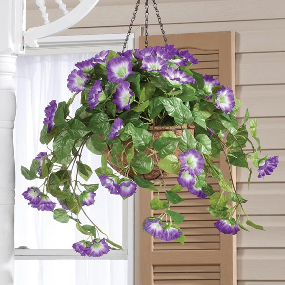 Fully Assembled Petunia Hanging Basket by OakRidge Outdoor™ - View 3