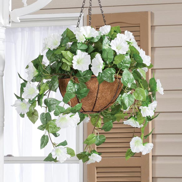 Fully Assembled Petunia Hanging Basket - View 4