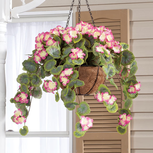 Fully Assembled Geranium Hanging Basket by OakRidge Outdoor™ - View 3