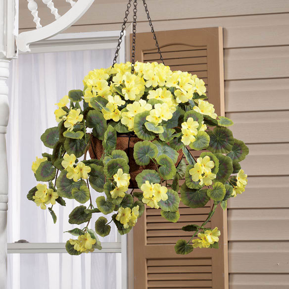 Fully Assembled Geranium Hanging Basket by OakRidge Outdoor™ - View 5