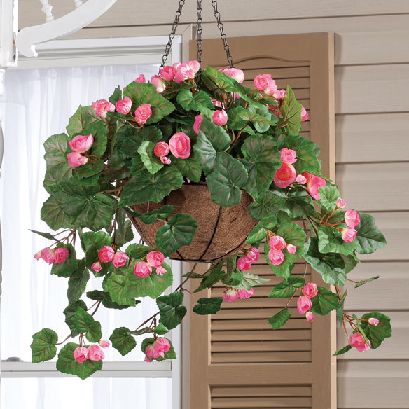 Fully Assembled Begonia Hanging Basket by OakRidge Outdoor™ - View 3