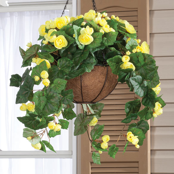 Fully Assembled Begonia Hanging Basket by OakRidge Outdoor™ - View 4