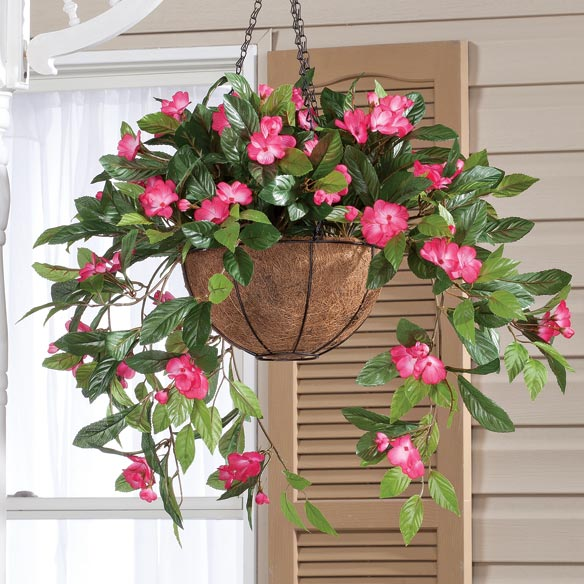 Fully Assembled Impatien Hanging Basket by OakRidge Outdoor™ - View 2