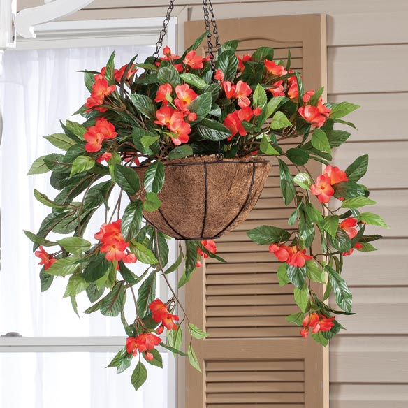 Fully Assembled Impatien Hanging Basket by OakRidge Outdoor™ - View 3