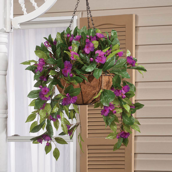 Fully Assembled Impatien Hanging Basket by OakRidge Outdoor™ - View 5