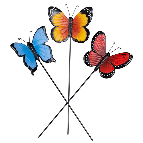 Resin Butterfly Planter Stakes by Maple Lane Creations™, Set of 3 - View 2