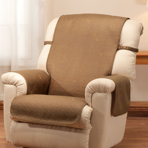 Leather Look Recliner Chair Cover - View 2