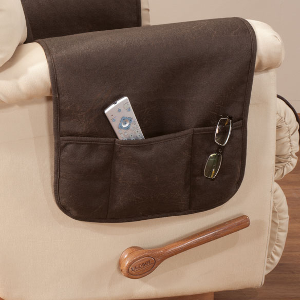 Leather Look Recliner Chair Cover - View 3