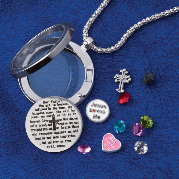 Lord's Prayer Charm Locket - View 2