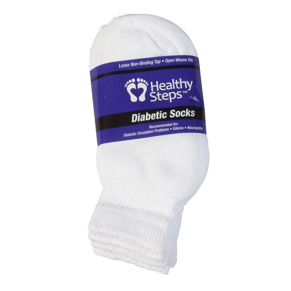 Healthy Steps™ 3 Pack Quarter Cut Diabetic Socks - View 4