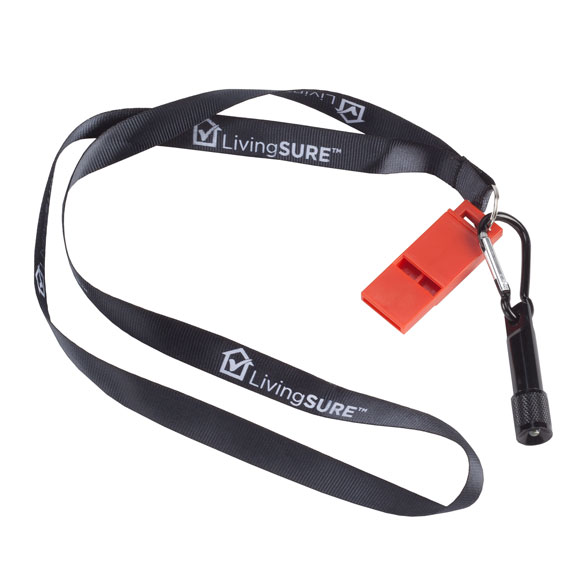 Emergency Whistle with LED Flashlight by LivingSURE™ - View 3