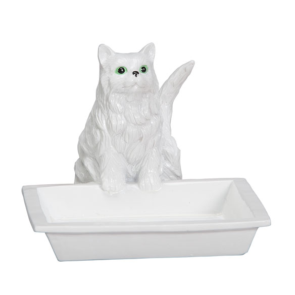 Playful Cat Soap Dish & Ring Holder - View 2