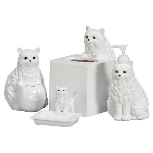 Playful Cat Bathroom Accessories, Set of 4 - View 2