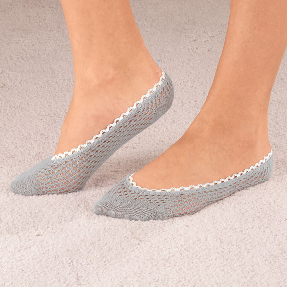 Lace Trim Cushioned Foot Liner, 1 Pair - View 2