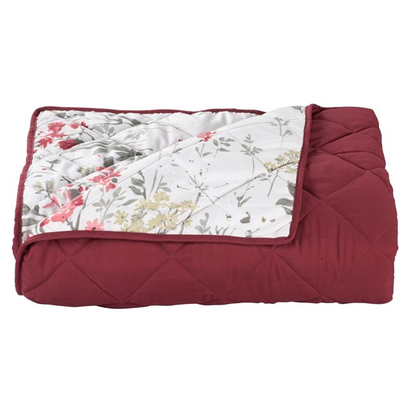Reversible Ruby Meadow Comforter - View 2