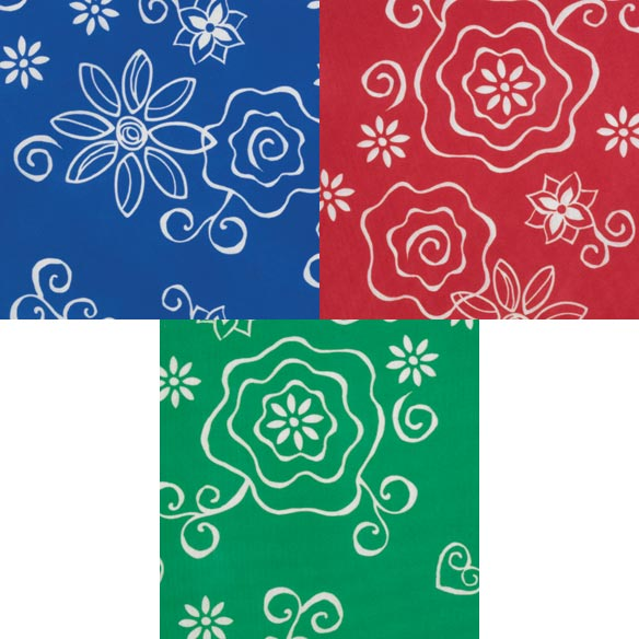 Fanciful Flowers Deluxe Picnic Table Cover - View 2