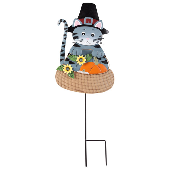 Pilgrim Cat Lawn Stake by Maple Lane Creations™ - View 2