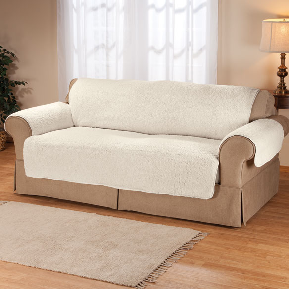 Sherpa Extra-Large Sofa Protector by OakRidge Comforts™ - View 4