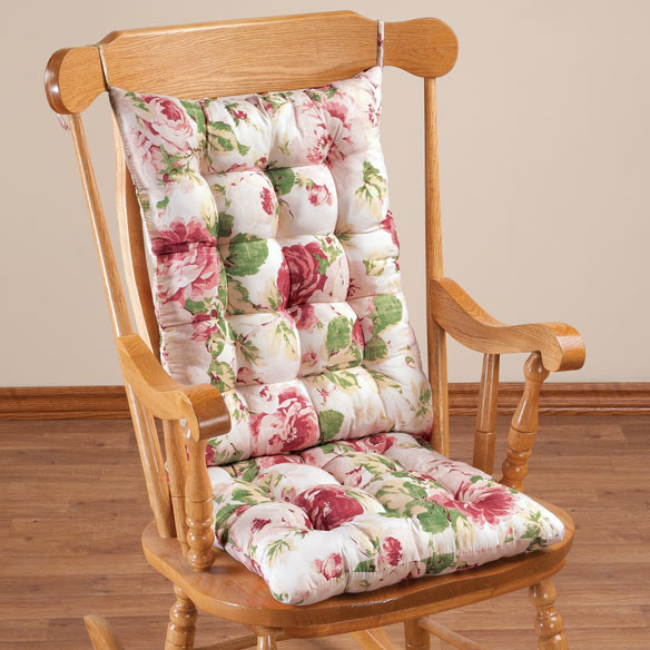 English Floral Microfiber Rocking Chair Set by OakRidge Comforts™ - View 2