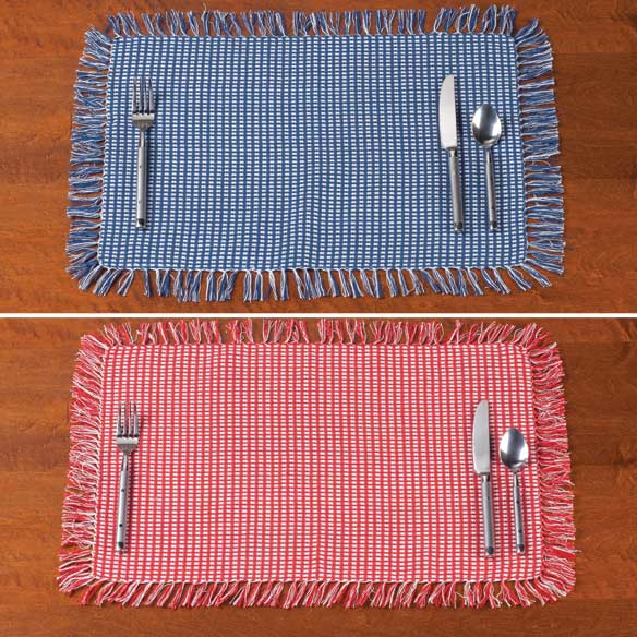 Homespun Woven Placemats, Set of 4 - View 4