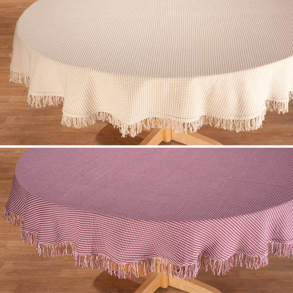 Homespun Woven Tablecloth - View 3