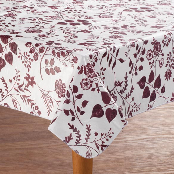 Flowing Flowers Vinyl Table Cover - View 2