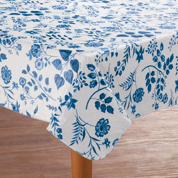 Flowing Flowers Vinyl Table Cover - View 3