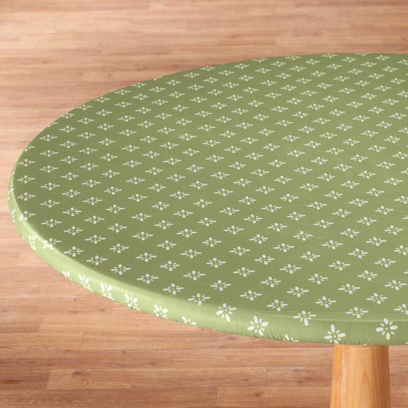 Heritage Vinyl Elasticized Table Cover - View 2