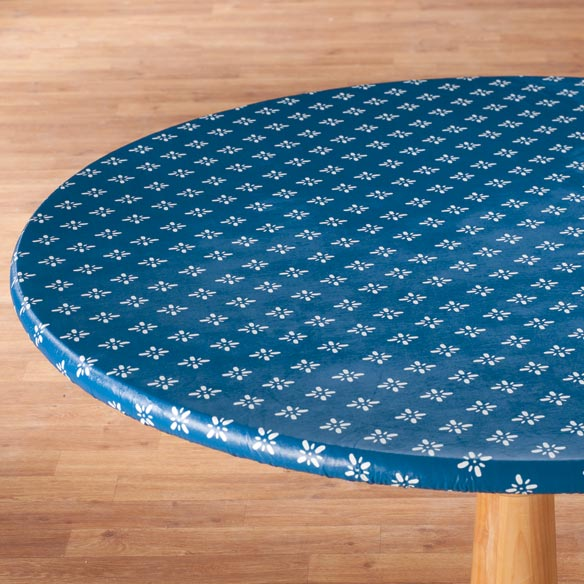 Heritage Vinyl Elasticized Table Cover - View 3