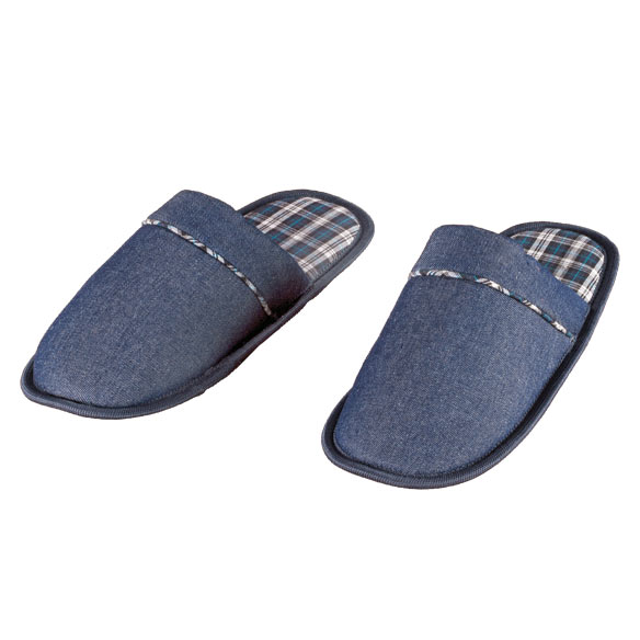 Denim Slide-On Slippers - View 2