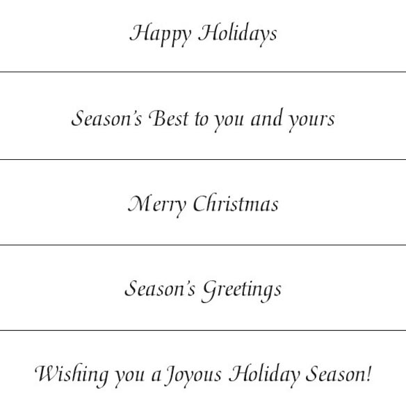Personalized Golden December Holiday Cards - Set of 18 - View 3