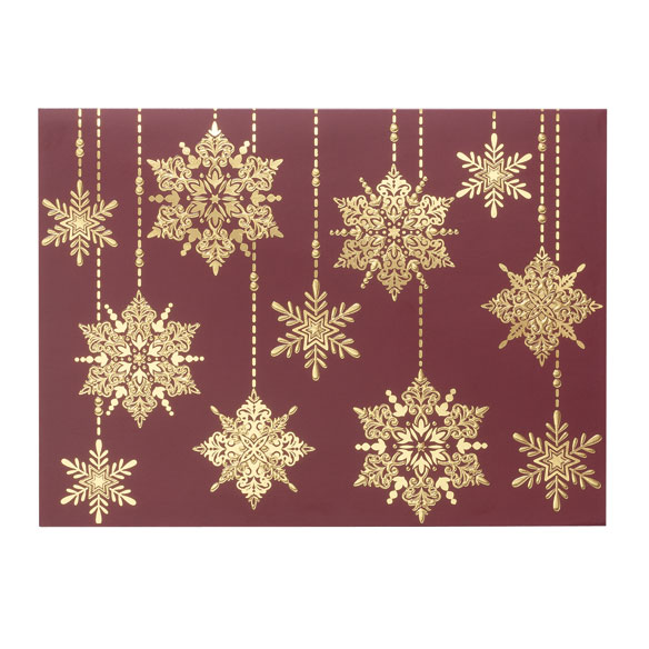 Frosted Droplets Holiday Cards - Set of 18 - View 2