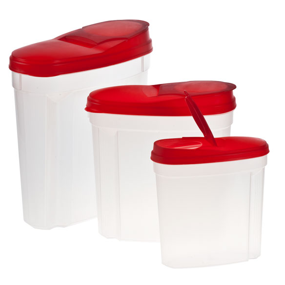 Pour and Store Plastic Dispensers, Set of 3 - View 3