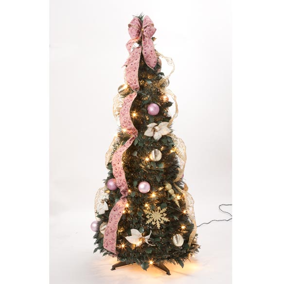 4-Foot Fully Decorated Victorian Pull-Up Tree - View 3