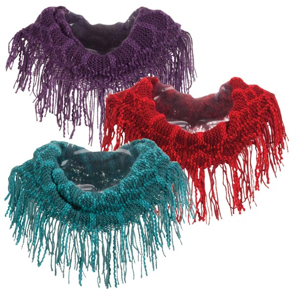 Fringe Knit Scarf - View 3