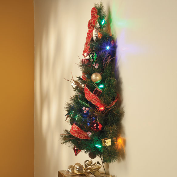 3-Foot Decorated Glitter Wall Tree - View 2