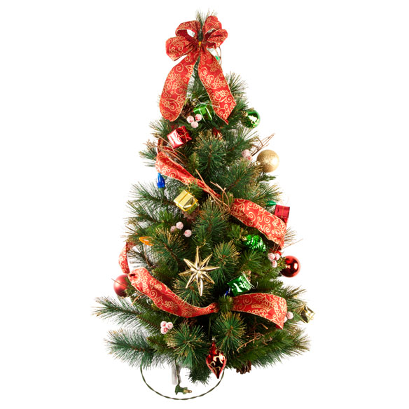 3-Foot Decorated Glitter Wall Tree by Northwoods™ - View 3