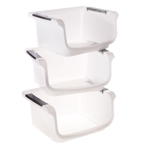 Stackable Vegetable Bins, Set of 3 - View 2
