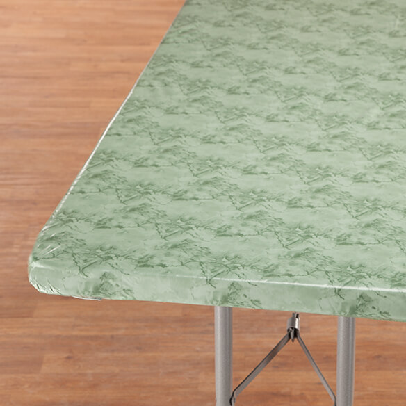 Marbled Elasticized Banquet Table Cover - View 3