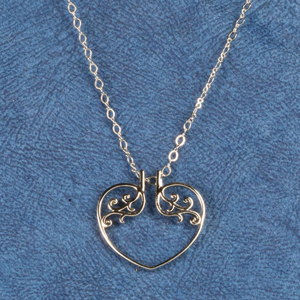 Heart Ring Holder Pendant - View 2