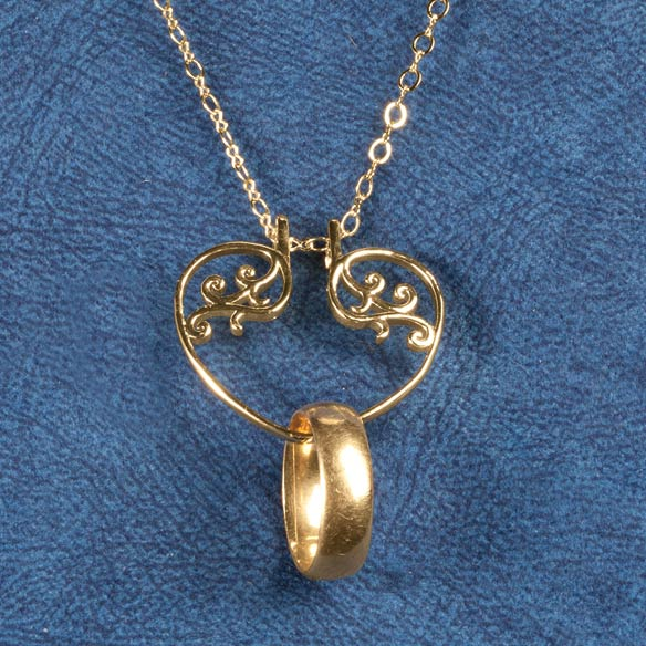 Heart Ring Holder Pendant - View 3