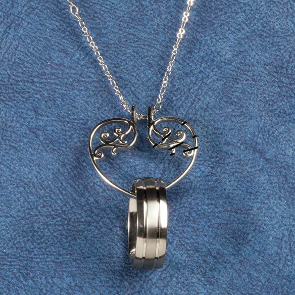 Heart Ring Holder Pendant - View 4