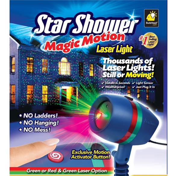 Star shower motion laser light laser projector walter drake for Star shower motion m6